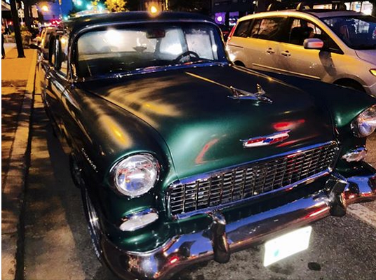 '55 Chevy - a recurring green ghost of my childhood.