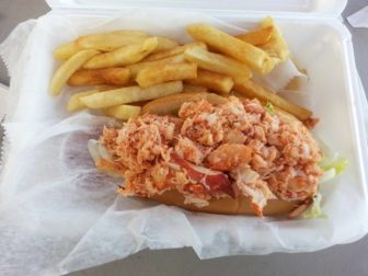 Lobster roll at Magoo's Drive-In