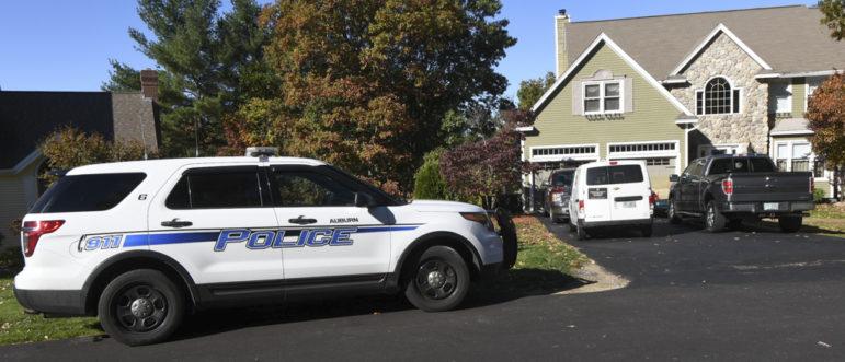 Police outside a residence in Auburn.