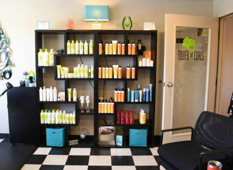Tower of Curls hair care products